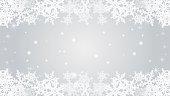 Snowflake  border frame -Silver color -EPS10.