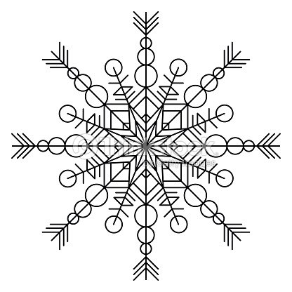 Snowflake Coloring Book Vector Art | Thinkstock