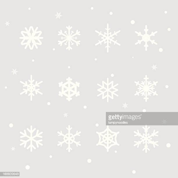 Schneeflocken-Design-Elemente