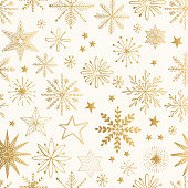 Snowflake gold pattern. Glitter vector illustration.