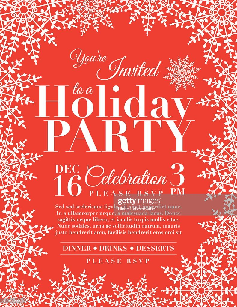 Holiday Event Invitations