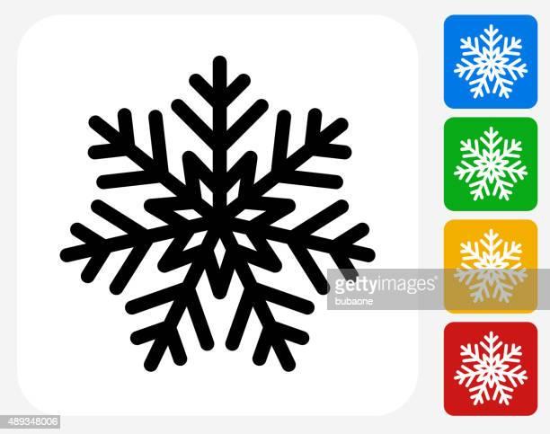 Schneeflocken-Symbol flache Grafik Design