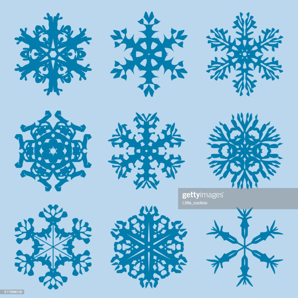 snowflake icon winter theme winter snowflakes of different shapes