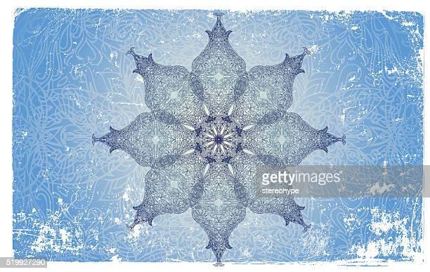 Mandala flocon de neige