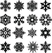 Set of snowflakes. Editable vector icons for video, mobile apps, Web sites and print projects. See more icons in this series.
