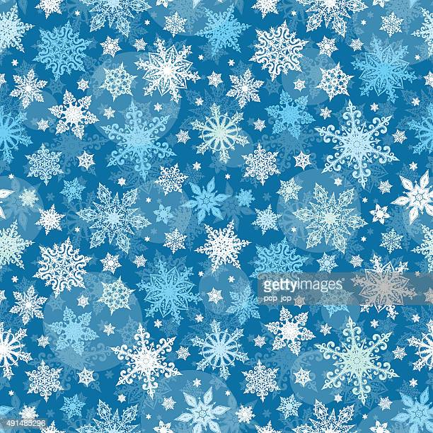 Snowflakes Seamless Pattern - Illustration