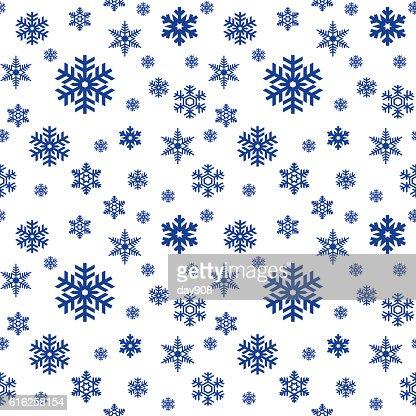 Flocos de Neve sem costura padrão : Arte vetorial