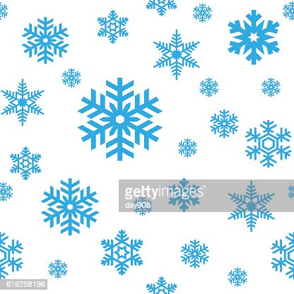 Snowflakes seamless pattern : Vector Art