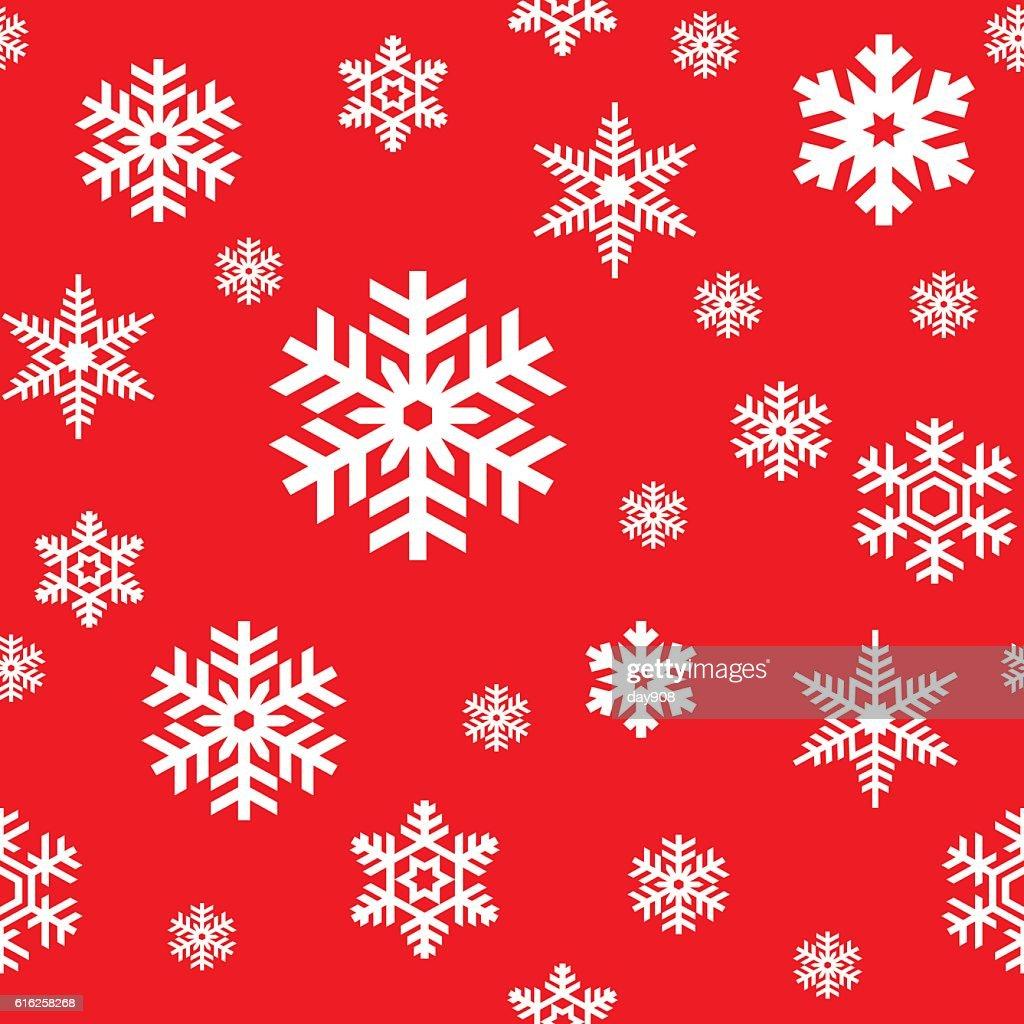 Snowflakes seamless pattern : Vector Art