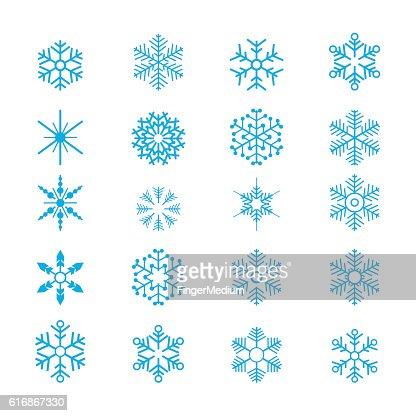 Snowflakes : Vector Art