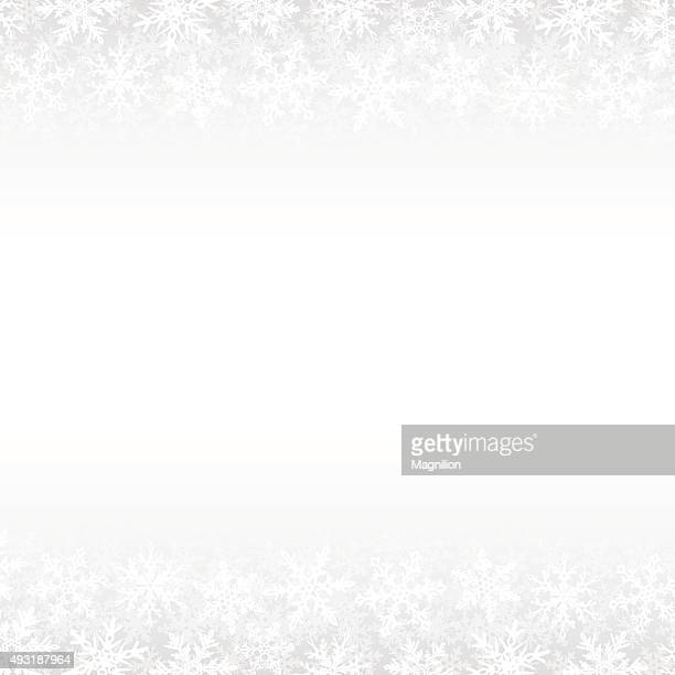 Snowflakes White Winter Background