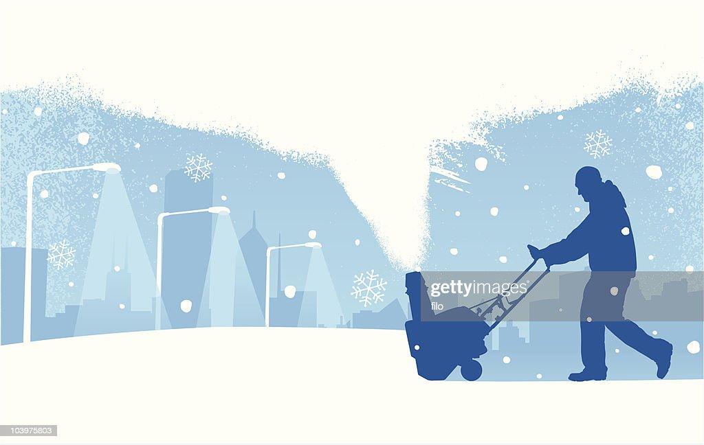 Snowstorm : Vector Art
