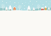 Christmas,holiday,snowy,winter,house,tree,nature,rural,landscape, background,design,template,frame,banner