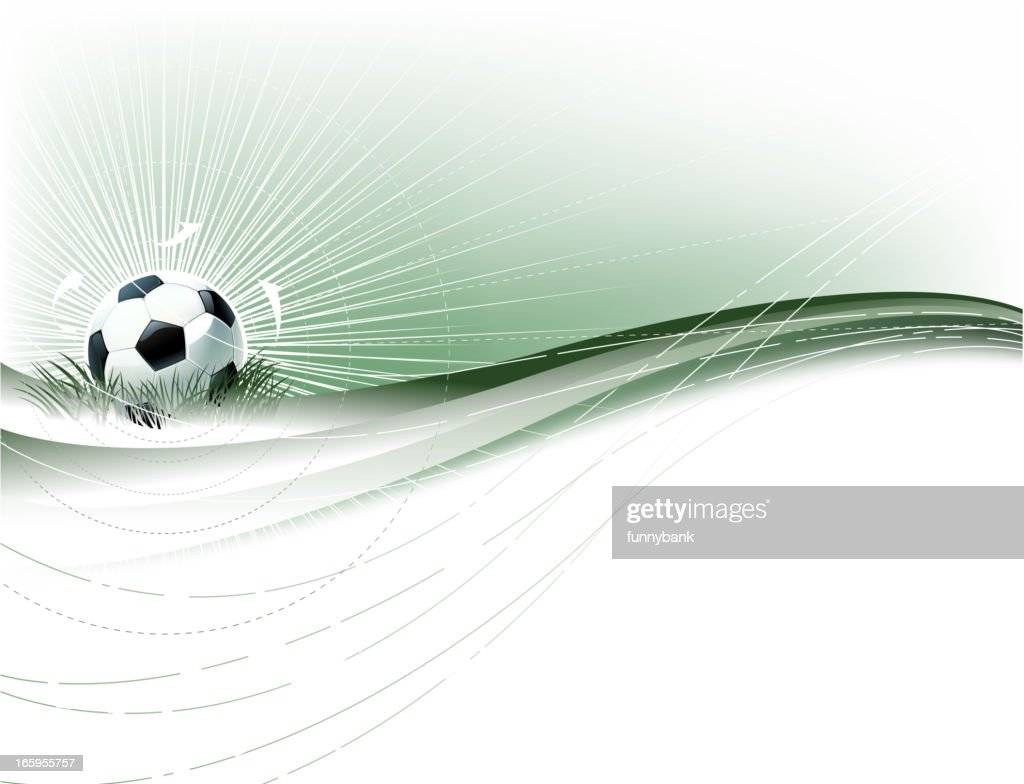 soccer ball backround : Vector Art