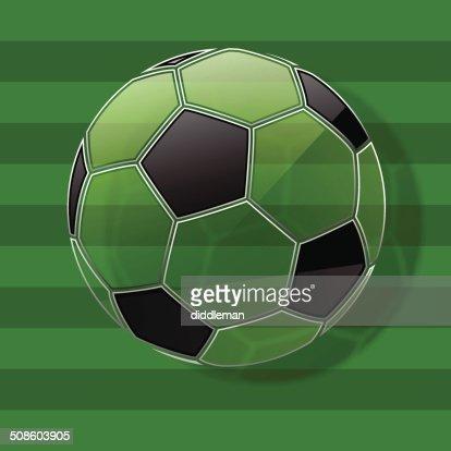 Pelota de fútbol.  Fondo de fútbol.  Vector Eps10 : Arte vectorial