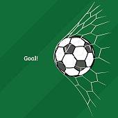 Football. Flat style. Vector illustration.