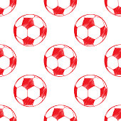 Soccer ball pattern. Can be used for textile, website background, book cover, packaging.