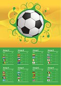 World Cup Flags 2014 Brazil