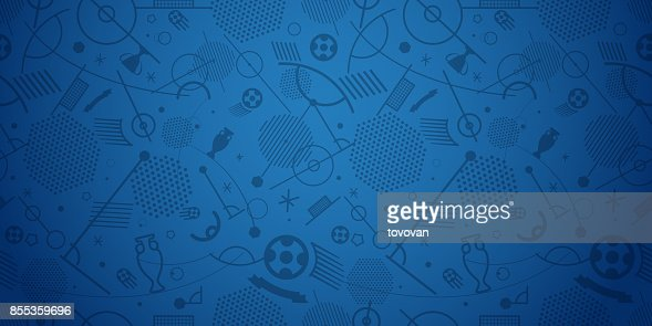 Illustration vectorielle de football Championnat abstrait : clipart vectoriel