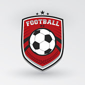 Soccer Football Badge Design Templates | Sport Team Identity Vector Illustrations isolated on white Background