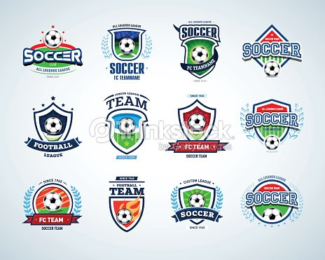 soccer football badge logo design templates sport logotype template