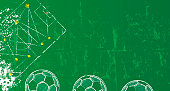 Soccer / Football design template or background, free copy space,grunge style vector