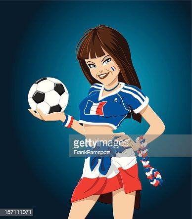 Soccer Girl France : Vector Art