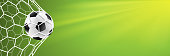 soccer goal background green vector