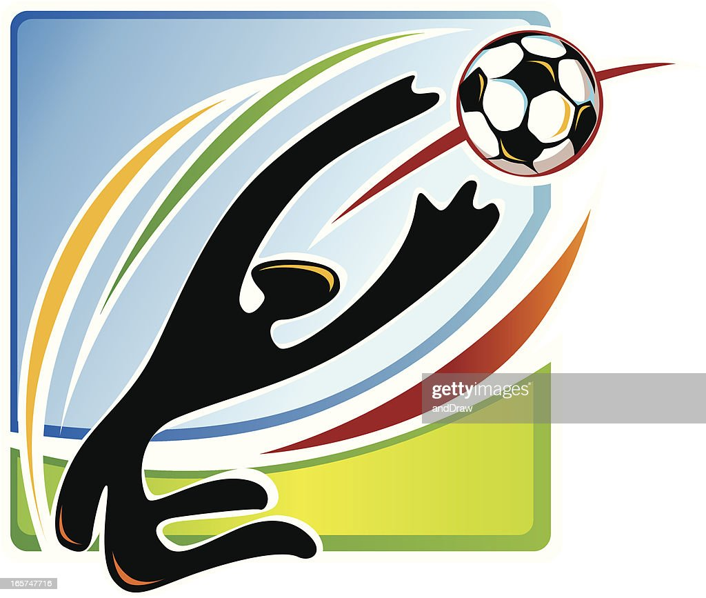 soccer goalkeeper african ethno style vector art getty images. Black Bedroom Furniture Sets. Home Design Ideas