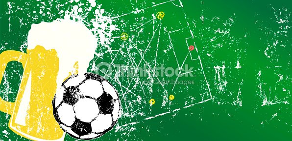 soccer illustration with beer and soccer ball design template free