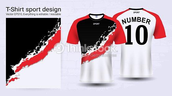 Jersey De Fútbol Y Plantilla De Camiseta Deporte Maquetado Diseño ... 2ef80a9666e8c