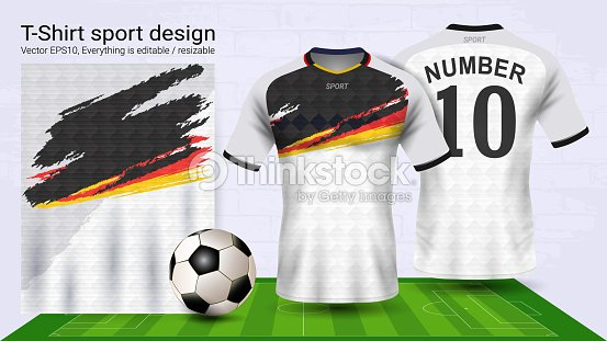 f0d6d1047 Soccer Jersey And Tshirt Sport Mockup Template Graphic Design For ...