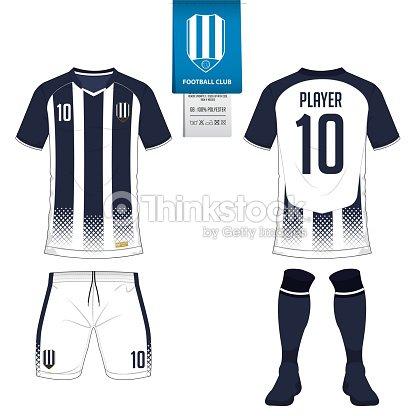 Fútbol Jersey O Fútbol Kit Corto Media Plantilla Para Club Deportivo ... 55d7c4dd4e6bd