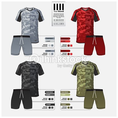 Fútbol jersey o fútbol kit plantilla diseño para el club de fútbol. Set de  fútbol 7b1c21952691b