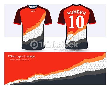Plantilla de camiseta de fútbol para club de fútbol o ropa deportiva  uniformes 6c834be34ff43