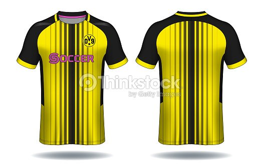 840b9230f Soccer Jersey Template Yellow And Black Layout Sport Tshirt Design ...
