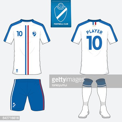 Soccer Jersey Template   Soccer Kit Or Football Jersey Template Front Back View Vector