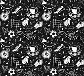 Soccer vector background. Vector illustration of seamless football wallpaper pattern for your design.