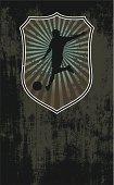 grunge soccer shield