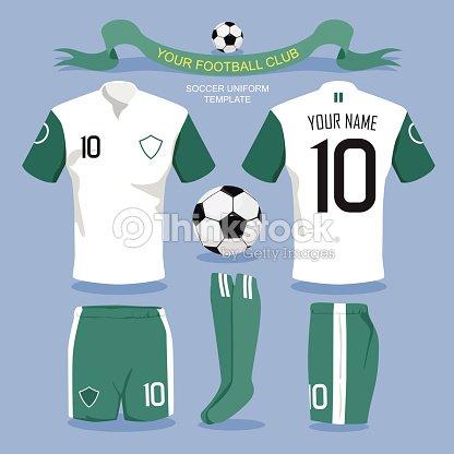 Soccer Uniform Template Vector Art