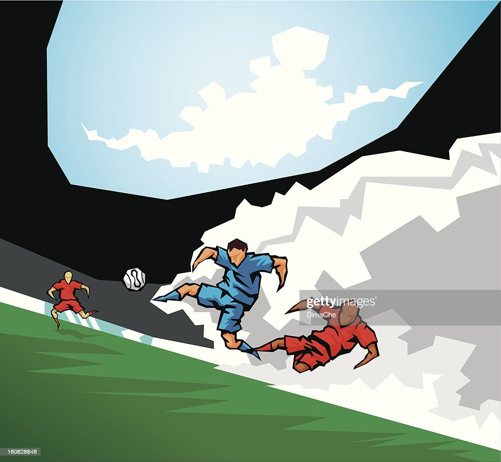 Soccer (European football) : Vector Art