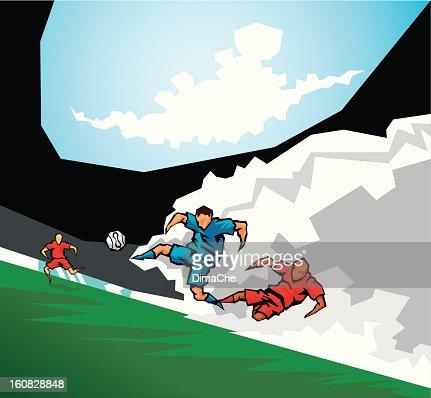 サッカー(ヨーロッパ) : ベクトルアート