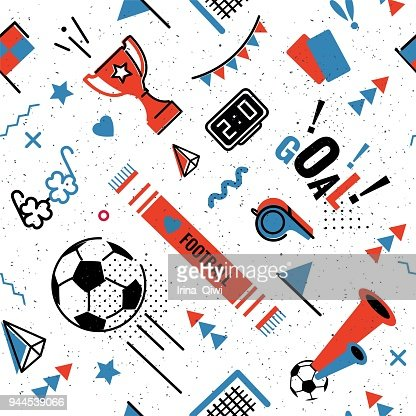 Soccer/football seamless pattern : Vector Art