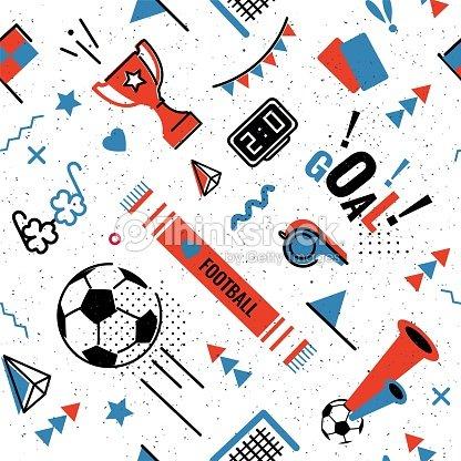 Soccer/football seamless pattern : stock vector