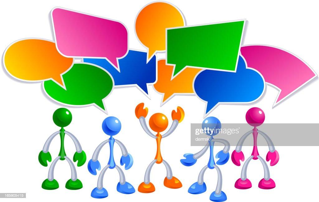 Social communication people : Vector Art