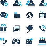 Blue vector icons for your website or presentations.