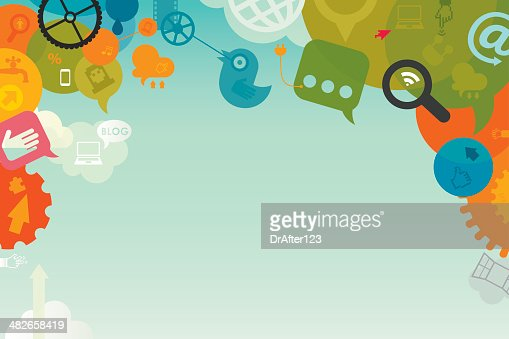Social Media Background Vector Art | Getty Images