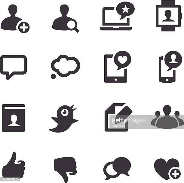 Icone dei Social Media-Acme serie