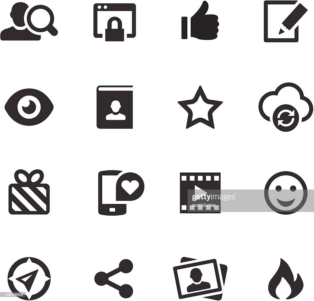 Social Media Icons | Mono Series : Vector Art