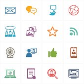 This set contains 16 social media icons that can be used for designing and developing websites, as well as printed materials and presentations.